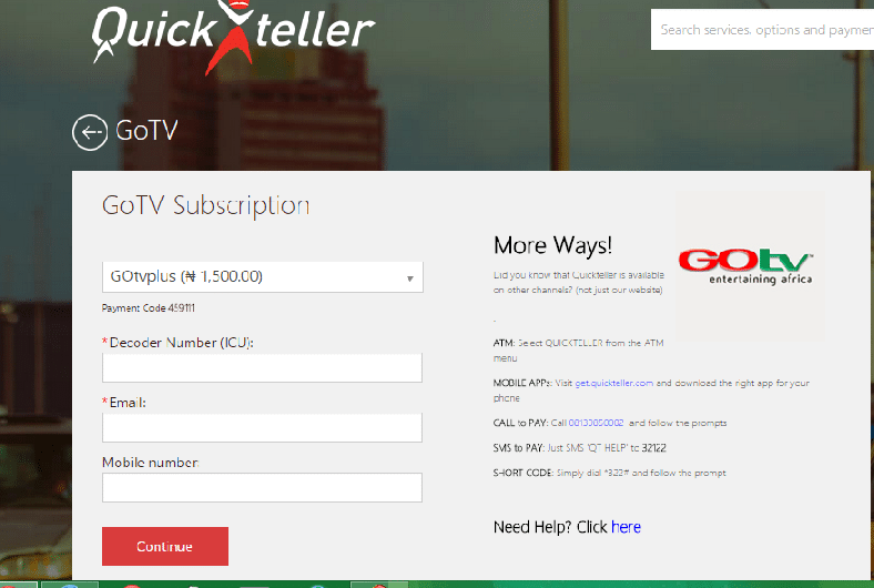 How To pay for GOtv online in Nigeria/Kenya - Nigeria Tech Zone