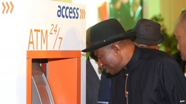 president goodluck testing National id card