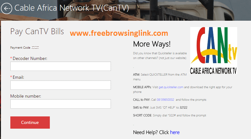 Pay CanTV Bills online