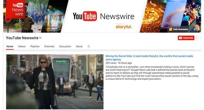 YouTube launches YouTube channel Newswire to promote the eyewitness videos