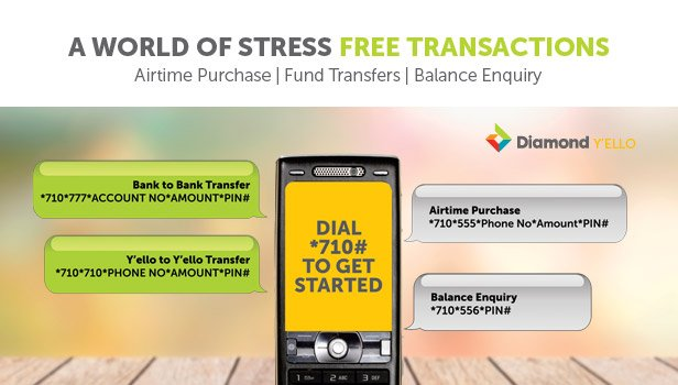Diamond Yello Account with *710# for Airtime, Transfers and