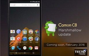 Tecno Camon C8 android 6.0 marshmallow