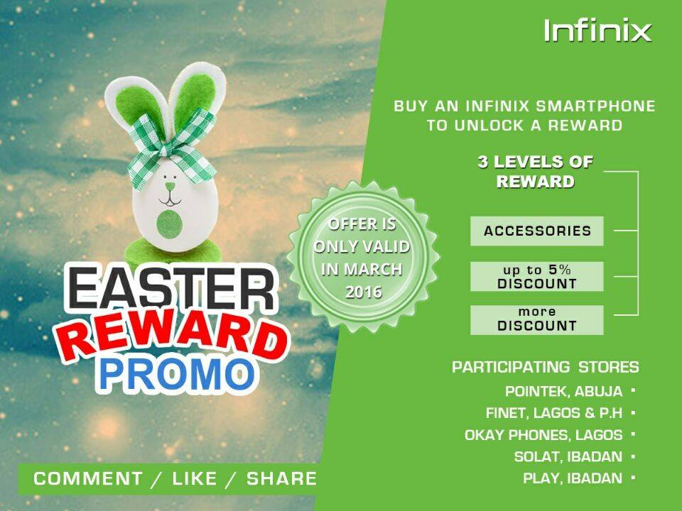infinix mobility easter promo