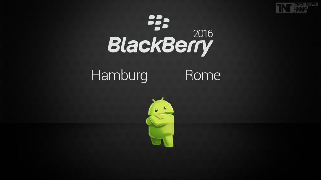 blackberry hamburg and rome smartphones