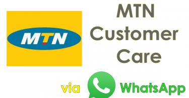 call mtn whatsapp number