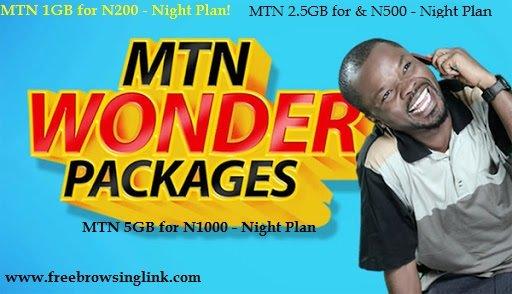 mtn 1gb, 2.5gb, 5gb night plan