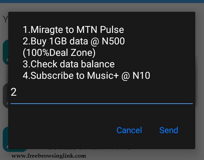 Updated: How to Get MTN 1GB for N500 - FreeBrowsingLink