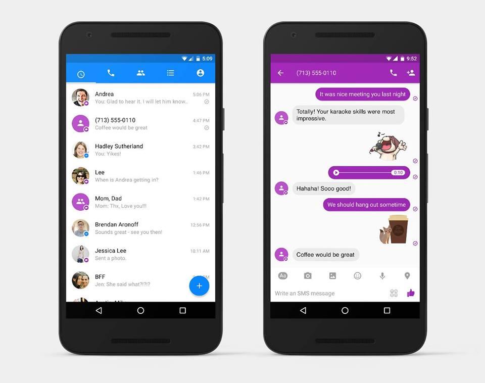 facebook messenger now send text message