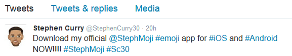 stephen emoji tweets