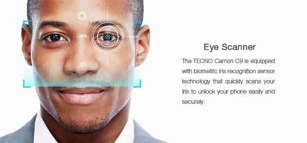 tecno c9 eye scanner