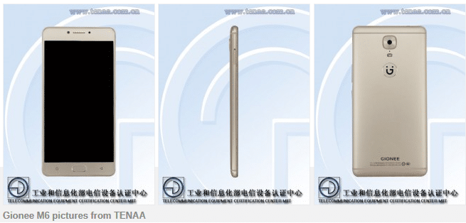 gionee m6 images