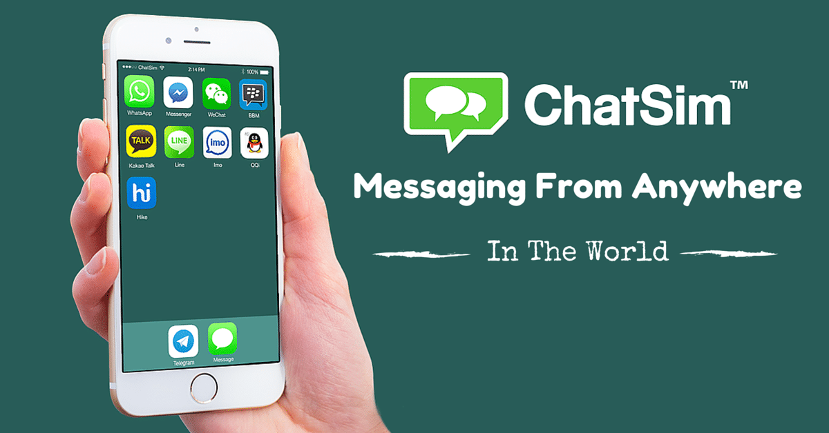 chatsim messaging from anywhere in the world