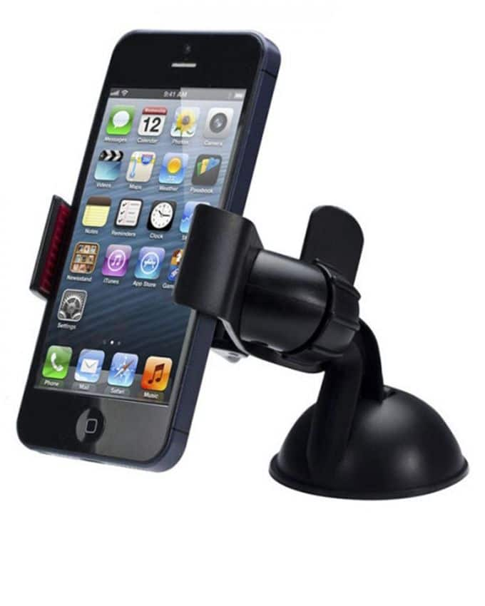 360 Rotating Car Wind Shied Mount Holder For Phones