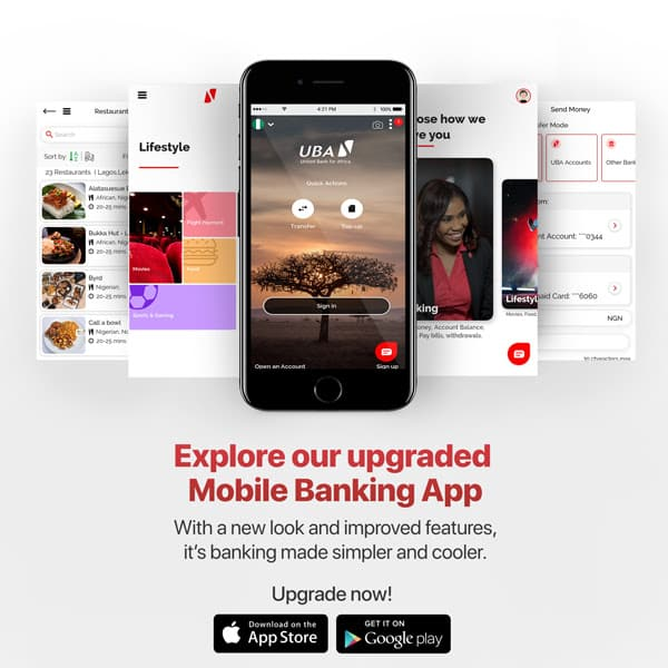 UBA upgraded mobile banking app