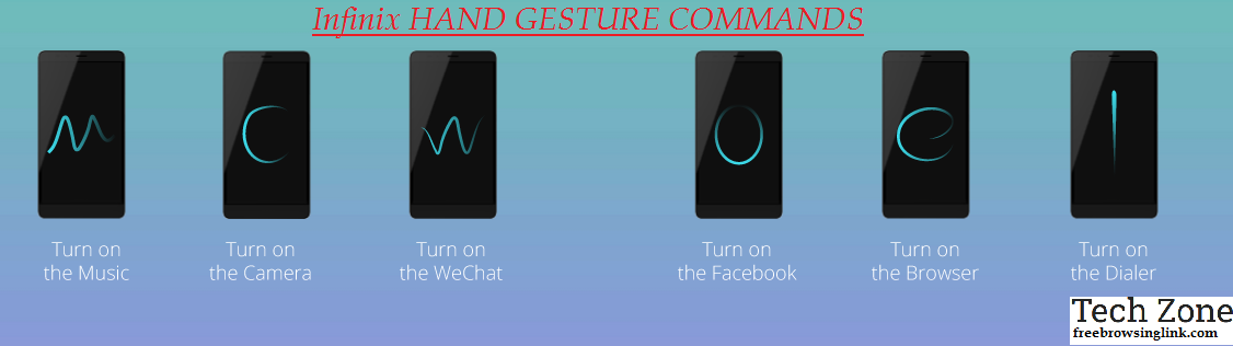 infinix HAND GESTURE COMMANDS