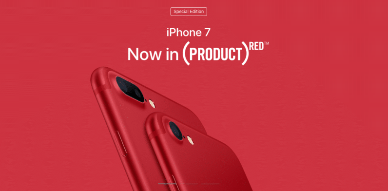 apple red iphone 7