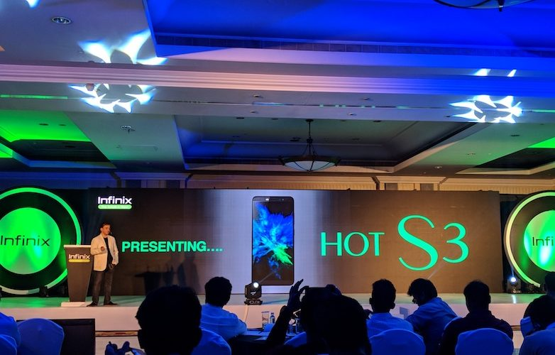 infinix hot s3 launched