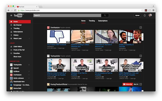how to change youtube theme to dark