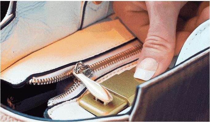 fym london bag with fingerprint scanner