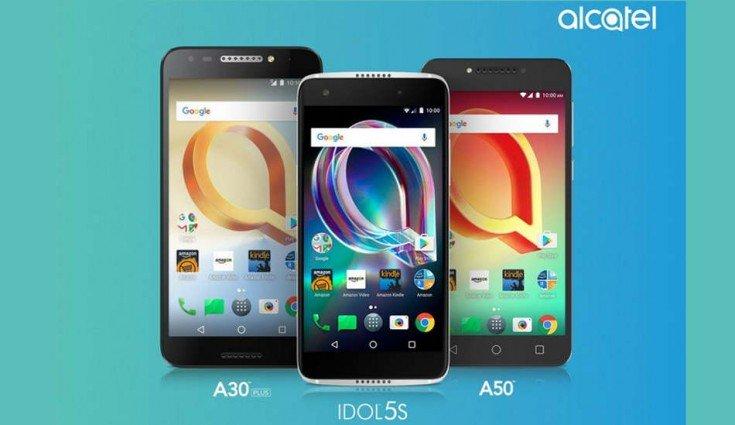 Alcatel Idol 5S, Alcatel A50, and Alcatel A30 Plus