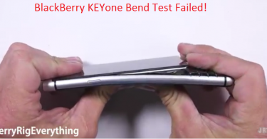 blackberry keyone bend test