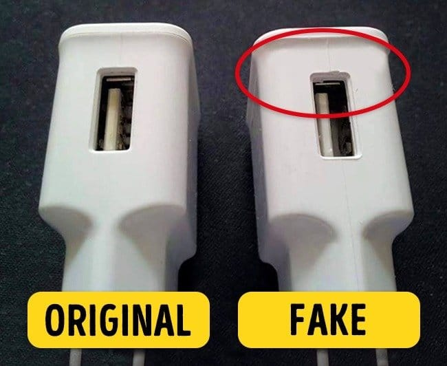 Fake device vs Original device
