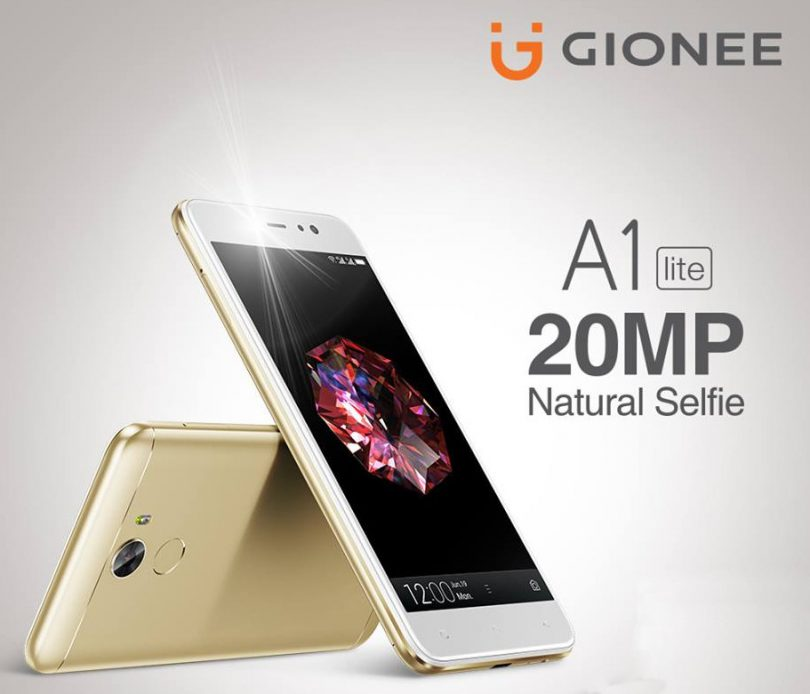 Gionee A1 Lite 20MP selfie