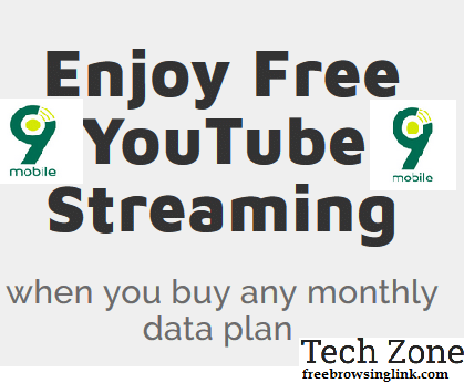 9mobile 1GB for N200 & 5GB for N1k - Free YouTube streaming
