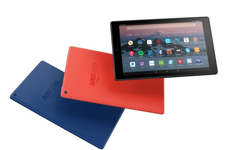 Amazon Fire HD 10 tablet colors