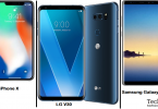 iPhone x vs Lg v30 vs Galaxy Note 8
