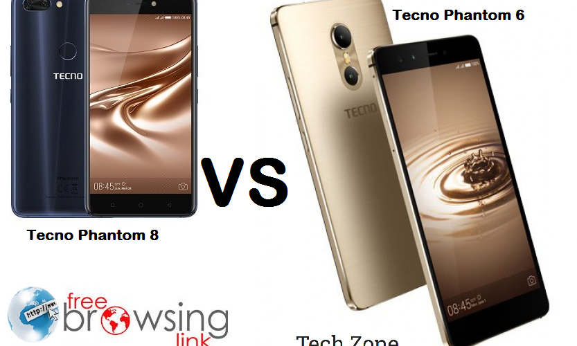 Tecno Phantom 8 vs Phantom 6