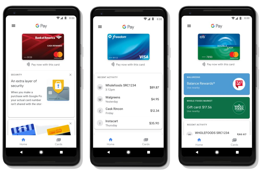 Google Pay option