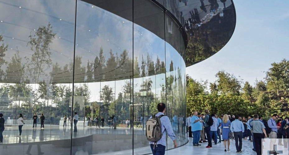 apple glass wall spaceship