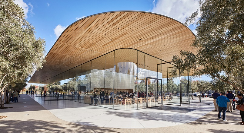 apple glass wall