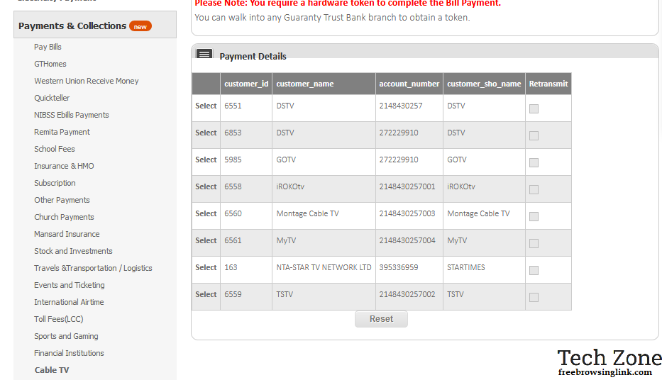 How to pay for DSTV Online using GTbank in Nigeria - FreeBrowsingLink