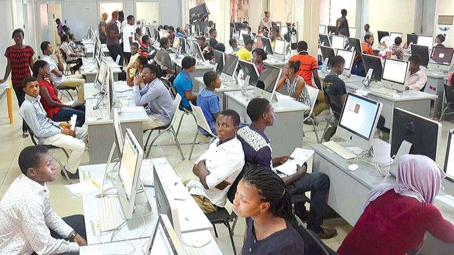 Candidates Writing Examination at a JAMB Center. Photo: Guardian Nigeria