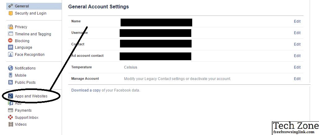 FB settings