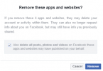facebook apps REMOVE