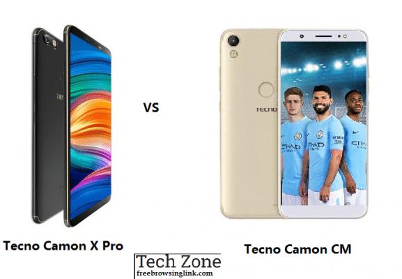 Tecno Camon CM vs Camon X pro