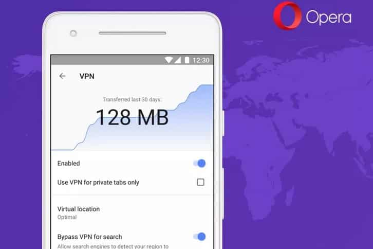 Opera Android VPN