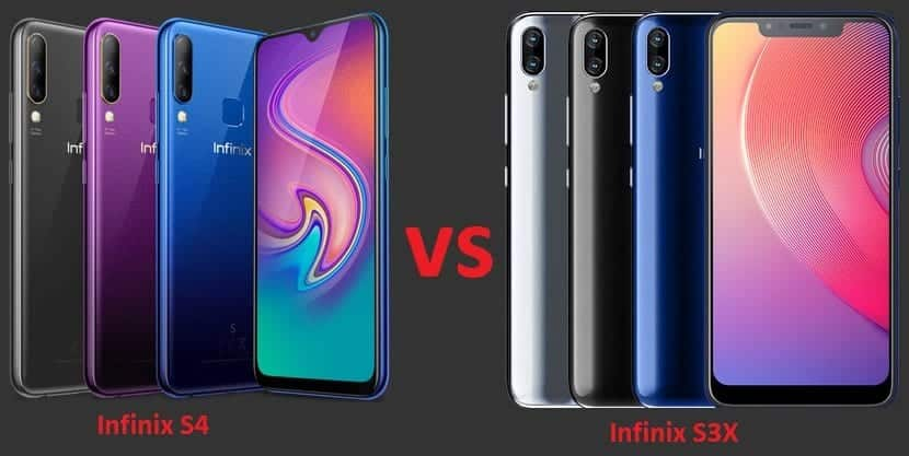 Compare: Infinix S4 with 32MP selfie vs Infinix S3X with