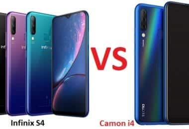 Tecno Camon i4 vs Infinix S4