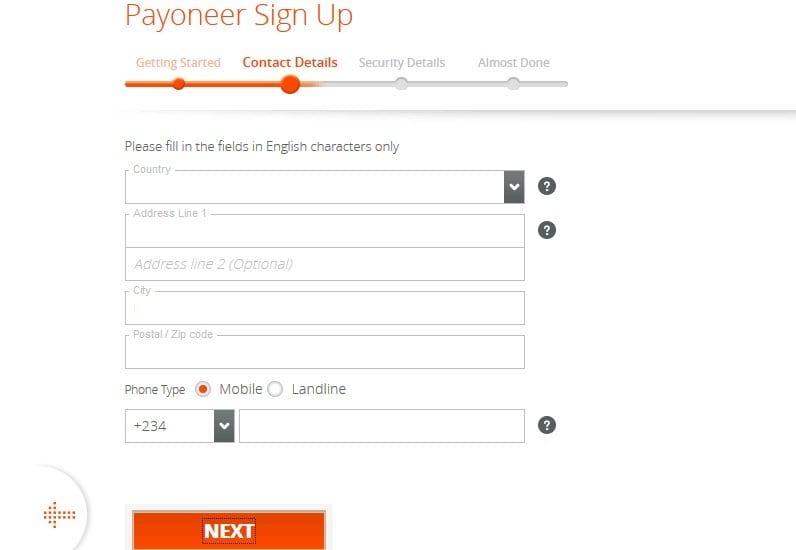 payoneer contact details
