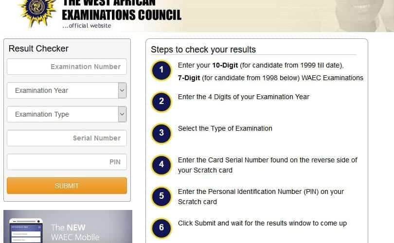 2019 WAEC Result Checker - How to Check WAEC Result via WAECDIRECT