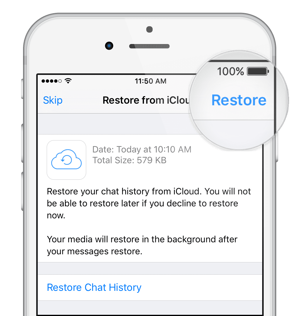 restore whatsapp deleted messges iphone