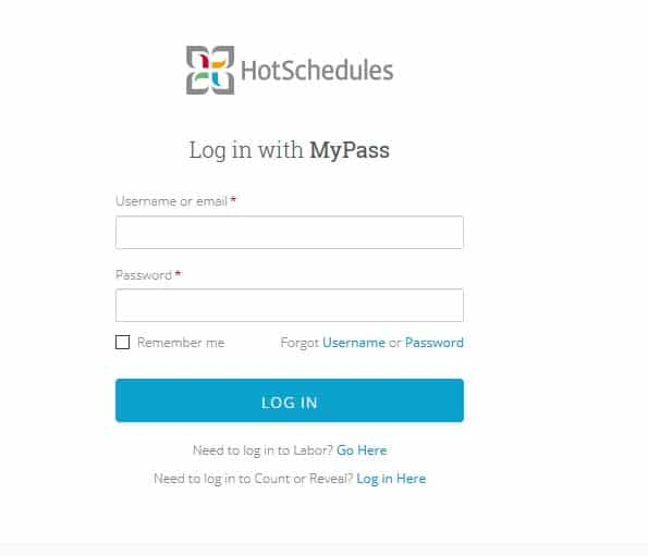 How to Login to Hotschedules with MyPass