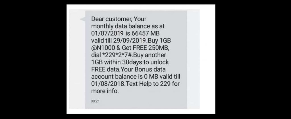 how to check etisalat data balance