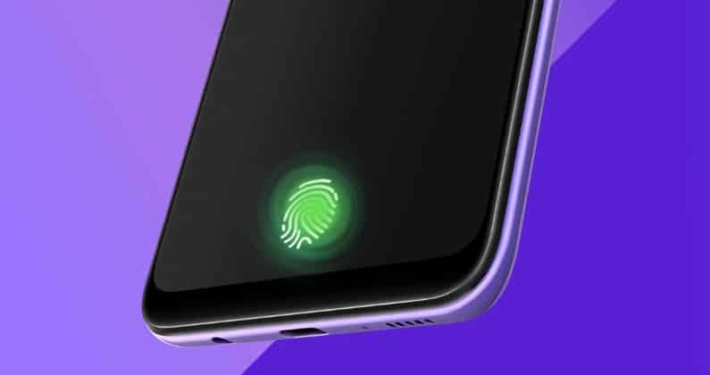 samsung galaxy a30s in display fingerprint sensor