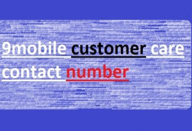 9mobile customer care contact number