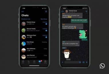 whatsapp dark mode for iphone